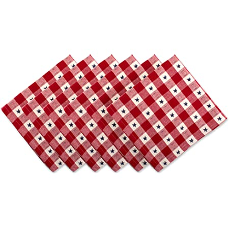 Patriotic Floral Cloth Placemats by Spoonflower - Freedom Floral Red Stripes by hipkiddesigns 4th Of July Placemats Set of 4