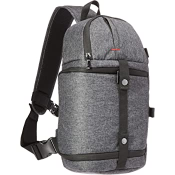 Amazon Basics Camera Sling with Adjustable Cross-Body Strap (High Density Water-Resistant 840D Polyester) - Ash Gray