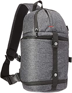 Amazon Basics – Arnés con correa ajustable en bandolera para cámara, poliéster 840D impermeable de alta densidad, gris ceniza