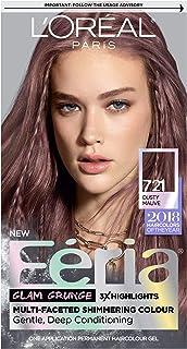 L'Oréal Paris Feria Multi-Faceted Shimmering Permanent Hair Color, 721 Dusty Mauve (1 Kit) Hair Dye