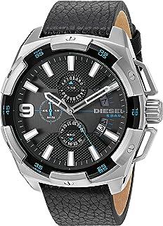 Diesel Men's DZ4392 Heavyweight Stainless Steel Black Leather Watch