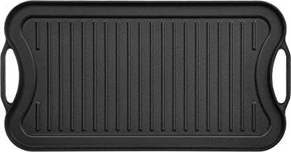 AmazonBasics Pre-Seasoned Cast Iron Reversible Grill/Griddle