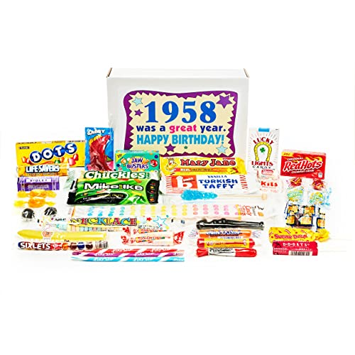 Woodstock Candy 1958 61st Birthday Gift Box Nostalgic Retro Mix From Childhood For 61