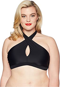 Plus Size Cross Halter Lorelei Swim Top