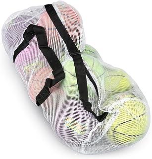 99.06 厘米网状运动球包,肩带可调节,超大行李袋 - 非常适合携带健身房设备、球衣和洗衣,Crown Sporting Goods 出品