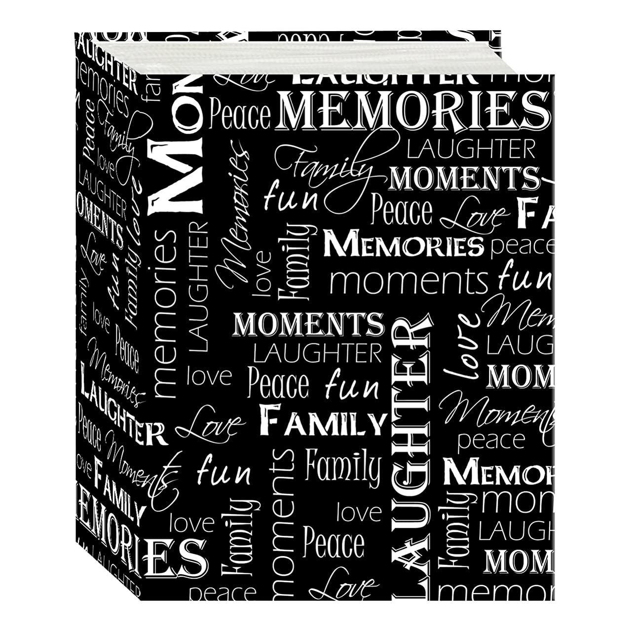 Pioneer Photo Albums A4-100 100 Pocket Mini-Max Album Hold 4x6 Photos, Black & White Words, 4