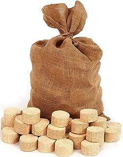 Floranica® Briqueta comprimida en Bolsa de Yute, briquetas