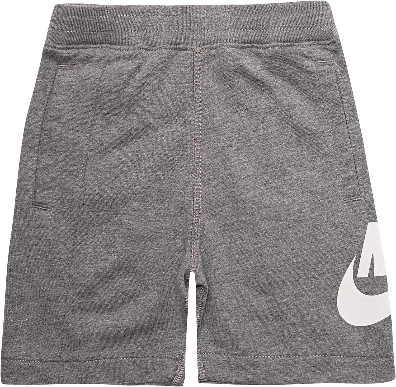 NIKE Children's Apparel Boys' Little Alumni Shorts, Carbon Heather, 7
