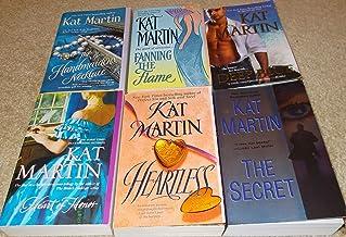 Kat Martin collection/set (6)...Deep Blue,Fanning Flame,Handmaidens Necklace,Heartless,Heart Honor,Secret