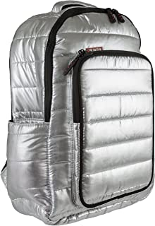 Skutr Puffy Backpack + Tablet Bag, Silver