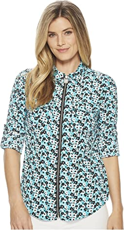 MICHAEL Michael Kors Carnation Lock Zip Top