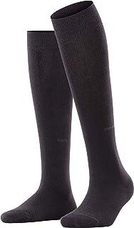 ESPRIT Kniestrümpfe Basic Pure Baumwolle Damen schwarz blau viele weitere Farben verstärkte Kniesocken ohne Muster atmungsaktiv lang einfarbig hoch und warm 1 Paar
