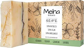 Meina Naturkosmetik - Naturseife, Bio Seife mit Teebaum & Lavendel ohne Palmöl, Vegan, Handgemacht 1 x 100 g