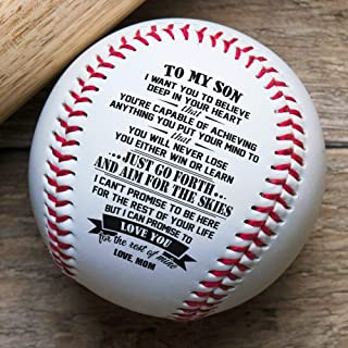 QUARTZILY Printed Baseball - Mom to Son Baseball - You Will Never Lose (from Mom)