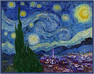 Van Gogh's Starry Night Detail Counted Cross Stitch Pattern