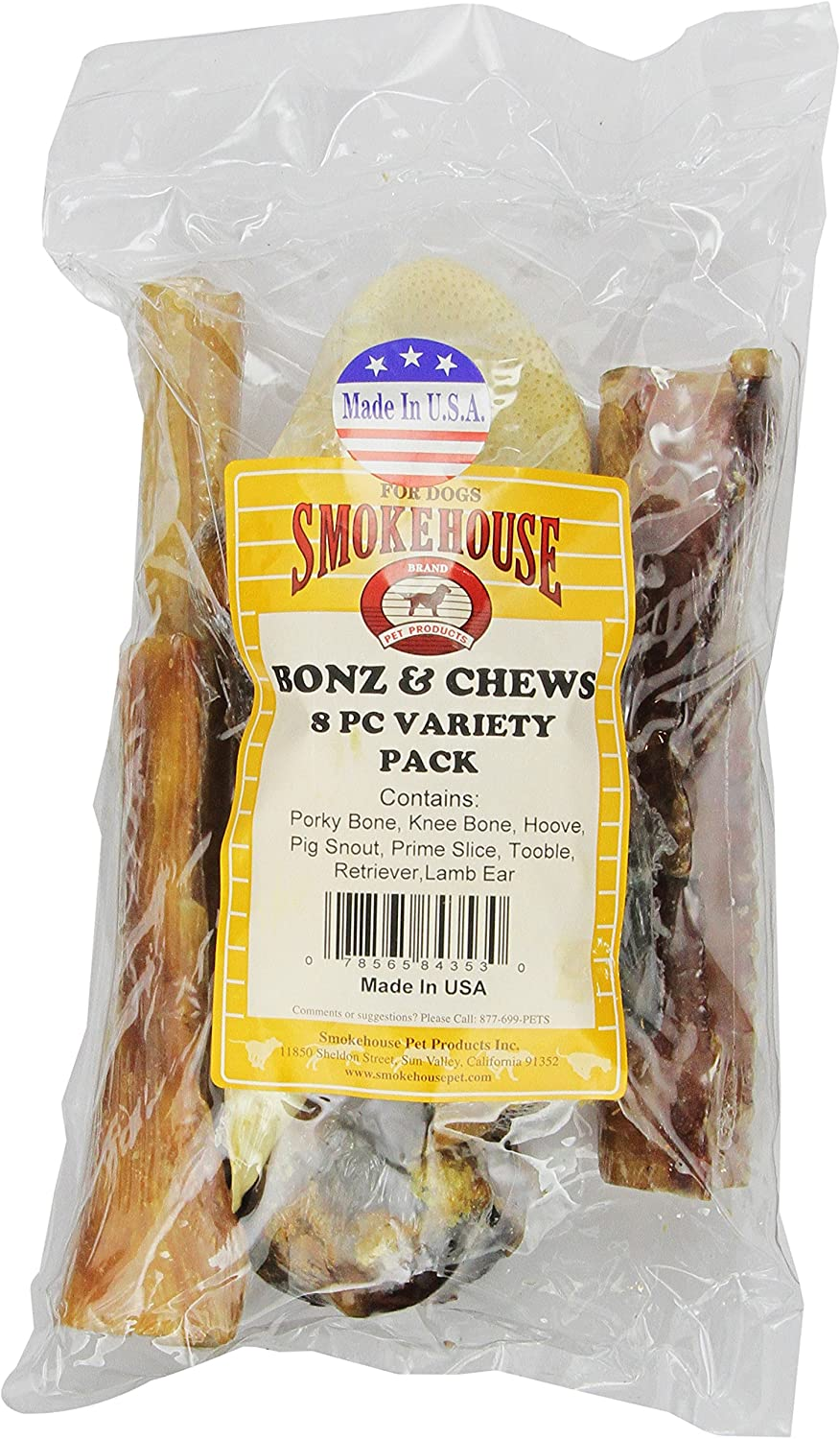 Smokehouse Excellence Year-end annual account 100-Percent Natural Bonz And Dog 8-Coun Chewz Treats