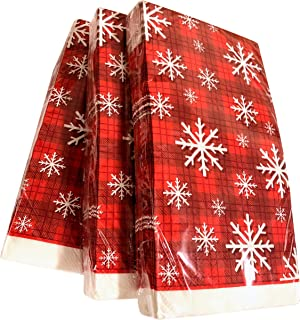 20x Red Snowflake Guest Towels | Christmas Napkins | Christmas Paper Napkins | Christmas Napkins for Decoupage | Red Paper...
