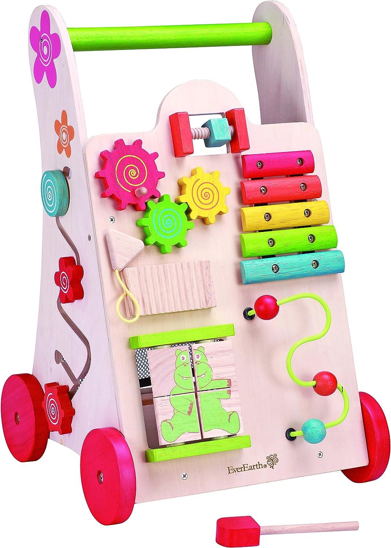 EverEarth Activity Walker. Toddler LearntoWalk Cart, Shape Sorter, Bead Maze, Xylophone & Gears