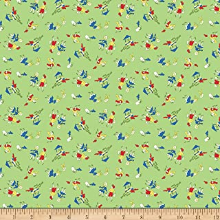 Christensen Wholesale Penny Rose Storytime 30s Jack and Jill Green Fabric