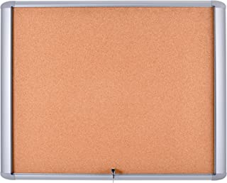 """MasterVision Enclosed Bulletin Board Outdoor Water resistant, Cork Surface, 30"""" x 26.5"""" with Aluminum Frame"""