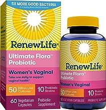 Renew Life Women's Probiotic 50 Billion CFU Guaranteed, Probiotics for Women, 10 Strains, Shelf Stable, Gluten Dairy & Soy...