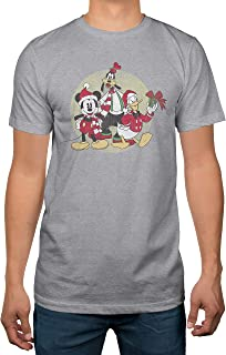 Disney Mickey Christmas Group Mens Heather Grey T-Shirt