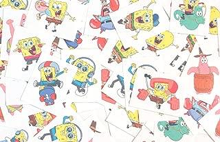 Spongebob Temporary Tattoos Made in USA (72 Per Order)