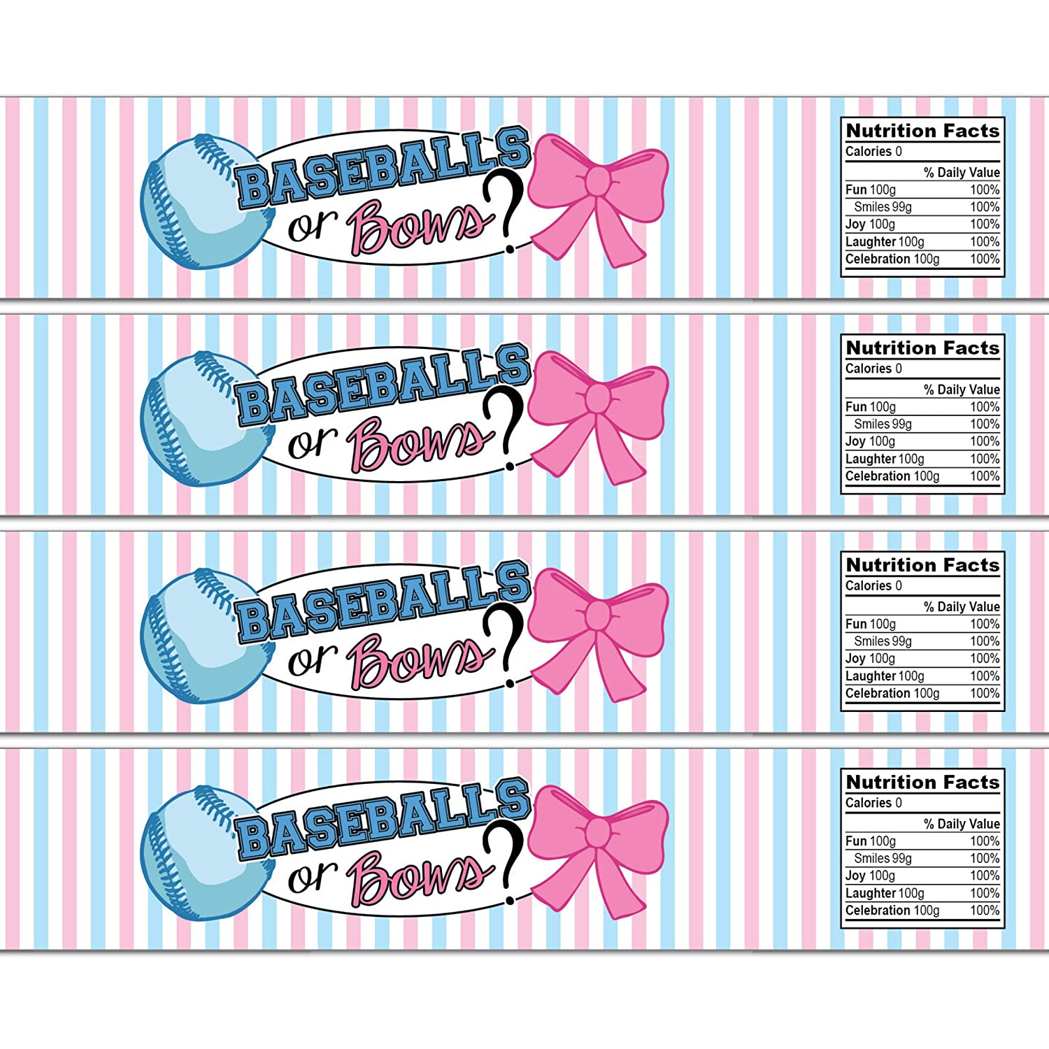 21 Baseballs or Bows Waterproof Label Year-end gift Limited time cheap sale Bottle Self-Adhesive Water