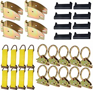 DC Cargo Mall E-Track TieDown Kit: 4 Wood Beam Sockets, 10 O Rings, 8 End Caps, 8 Rope TieOffs. Ideal TieDown Accessories ...