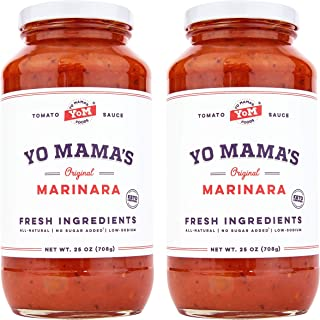 Keto Marinara Pasta Sauce by Yo Mama's Foods – Pack of (2) – No Sugar..