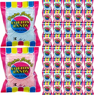 Papa John's Cotton Candy Blue and Pink Party Flavors Supplies Birthday Treats for Kids, Kosher, 1oz Bag (40-Pack)