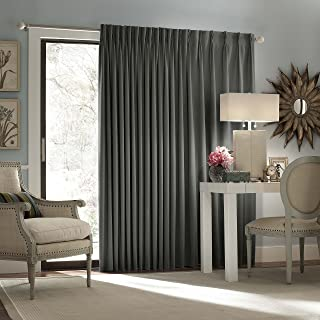 Eclipse Thermal Blackout Patio Door Curtain Panel, 100-Inch x 84-Inch, Charcoal
