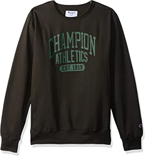 Champion Mens CH125AM Fleece Ls Crew with Screen Print Sweatshirt