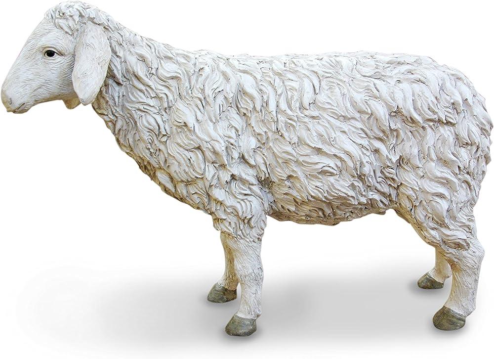Ferrari & arrighetti statua presepe  linea martino landi,pecora 120 cm