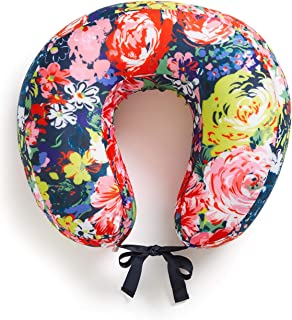 ban.do Getaway Travel Neck Pillow with Removable Cover, Flower Shop
