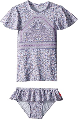 Seafolly Kids - Peacock Paisley Rashie Set (Infant/Toddler/Little Kids)