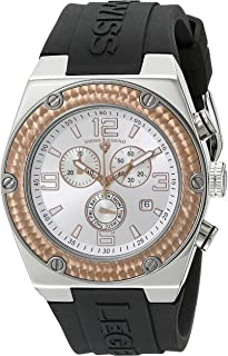 Men's 30025-02S-RB Throttle Chronograph Silver Dial Watch
