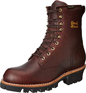 Men's 8 Inch Briar Insulated Waterproof Logger Rugged Boot