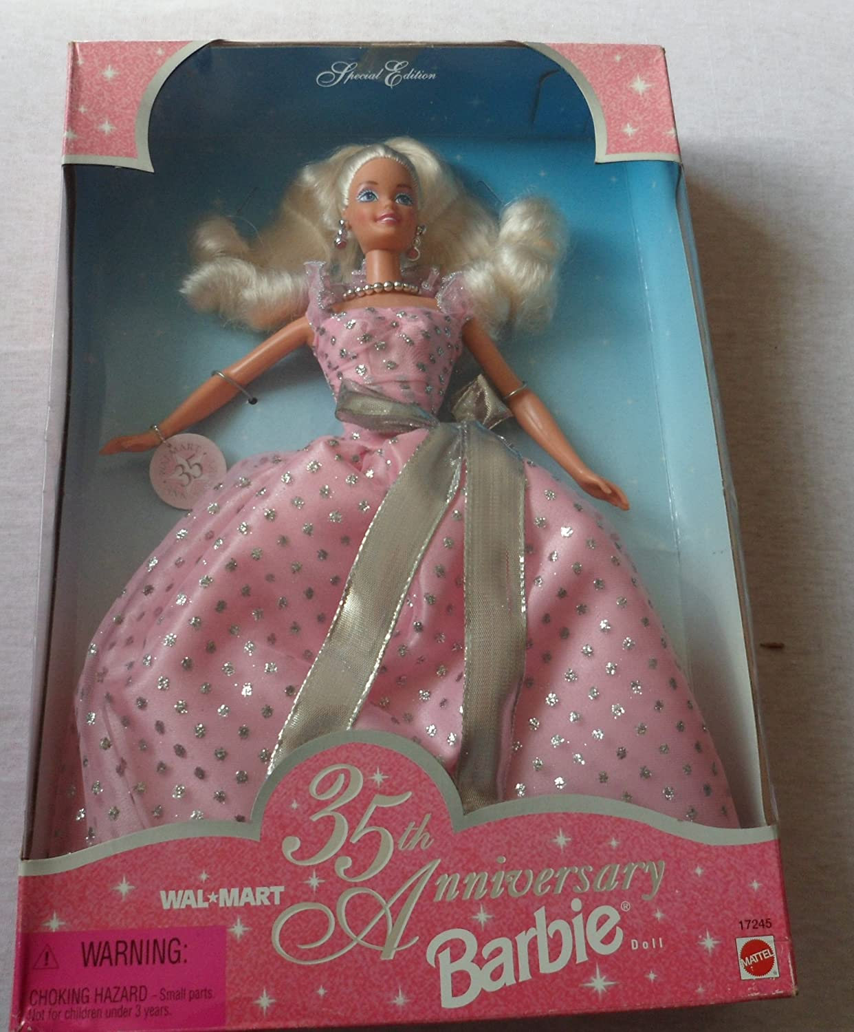 Barbie Special Edition WalMart 35th Anniversary Barbie Doll By Mattel in 1997  The box is in poor condition