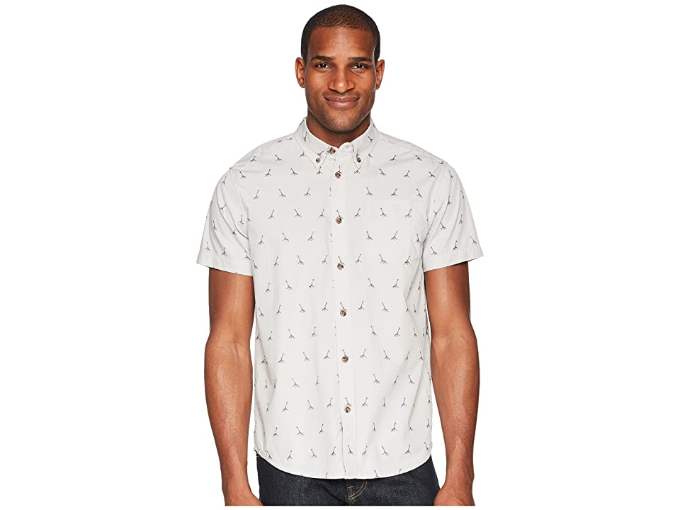 Prana Broderick Embroidery Shirt (Titanium Grey) Men