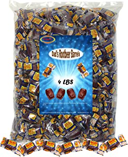Medley Hills Farm Dad's Root Beer Barrels 4 Lbs Washburn Individually Wrapped Old Fashioned Candy