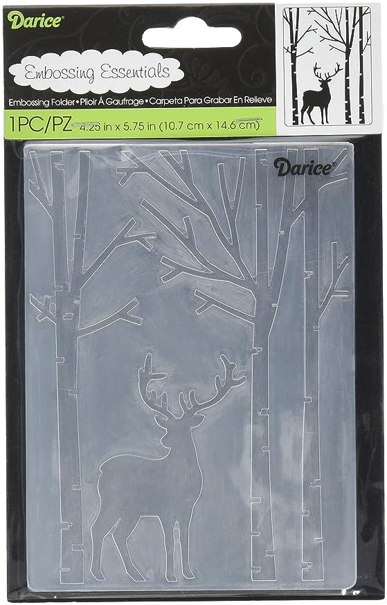 Darice Embossing Folder Deer in The Forest jkncgdghkzacq232