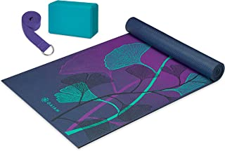 Gaiam Beginner's Yoga Starter Kit (Yoga Mat,  Yoga Block,  Yoga Strap)