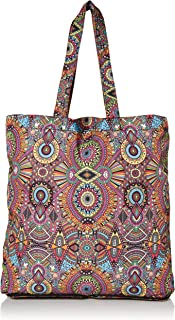 Sakroots Eco-Twill Palo Alto Packable Tote, Rainbow Wanderlust