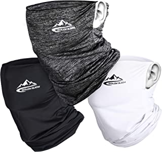 【3個セット】フェイスカバー 冷感 ネックカバー UVカット ランニング スポーツカバー 防吹き 日焼け防止 伸縮・通気性 紫外線対策 吸汗速乾 男女兼用