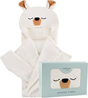 Ultra Soft Baby Hooded Towel | Extra Large and Super Absorbent Hooded Bath Towel for Babies,Toddlers | Rayon from Bamboo Baby Towel | Perfect Baby Shower Gift for Boys and Girls by Natemia