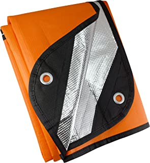 UST Manta de supervivencia/lona 2.0 con material resistente al viento e impermeable para emergencia, camping, senderismo y...