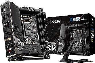 MSI MEG Z490I Unify Gaming Motherboard (LGA 1200, Intel 10th Gen, M.2, USB 3.2 Gen 2, DDR4, Wi-Fi 6, SLI, CFX, Gigabit LAN, Thunderbolt 3, Mini-ITX)