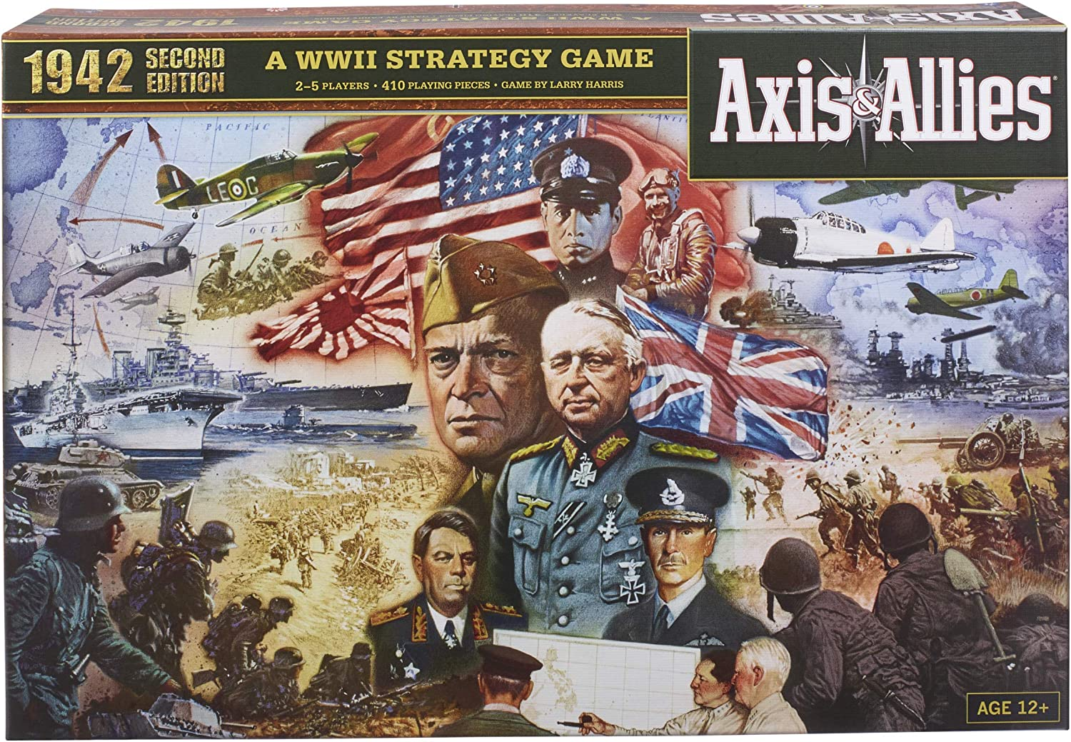 Hasbro Gaming Large discharge sale Avalon Hill Axis Edition Allies Second free shipping WWII 1942