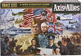 Hasbro Gaming Avalon Hill Axis & Allies 1942 Second Edition WWII Strategy Board Game, with Extra Large Gameboard, Ages 12 ...